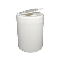 White empty Wipes Container