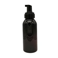 375ml Amber foaming pump bottle - new design lid off