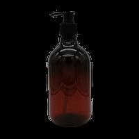 500ml Amber PET Pump Bottle - New Design