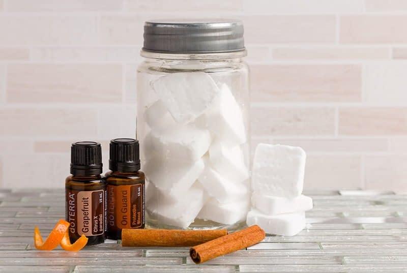 DIY DIshwashwer Tablets using essential oils